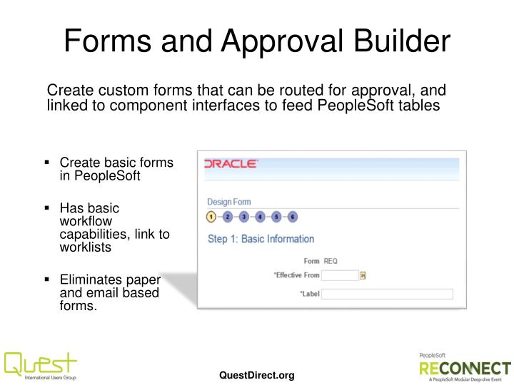 Forms and Approval Builder