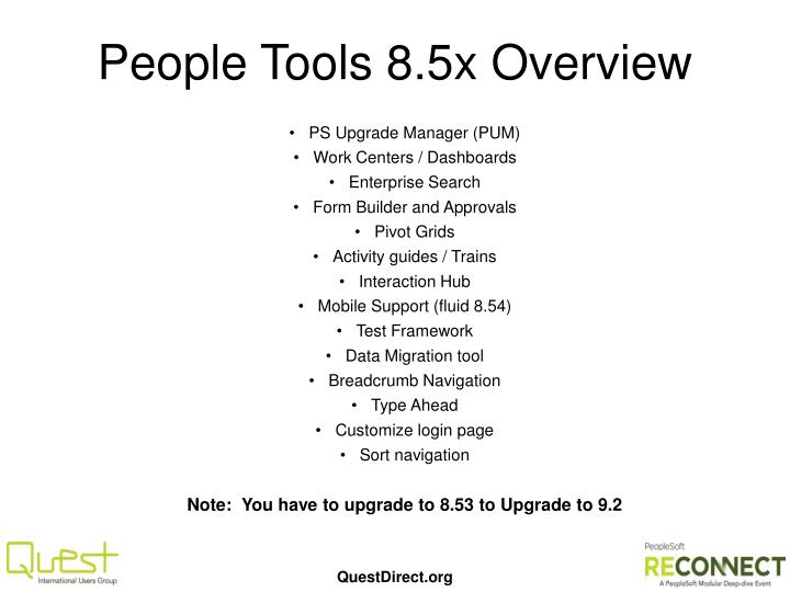 People Tools 8.5x Overview