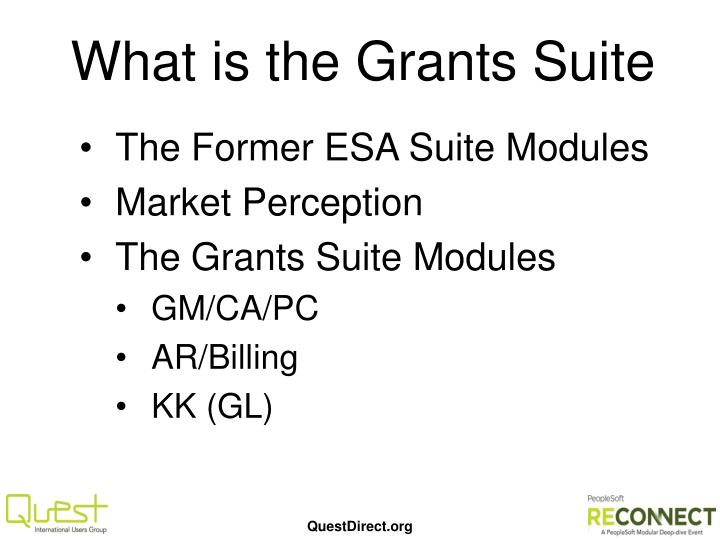 What is the Grants Suite