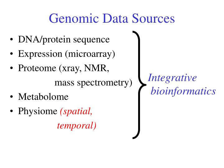 Genomic Data Sources