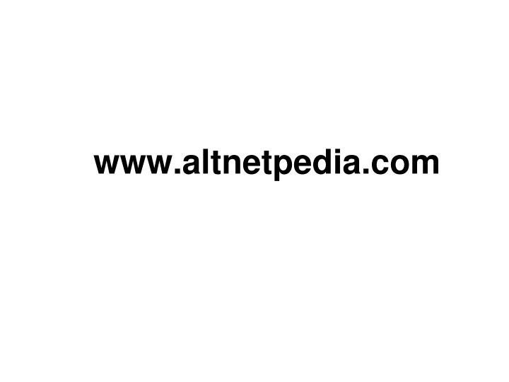 www.altnetpedia.com