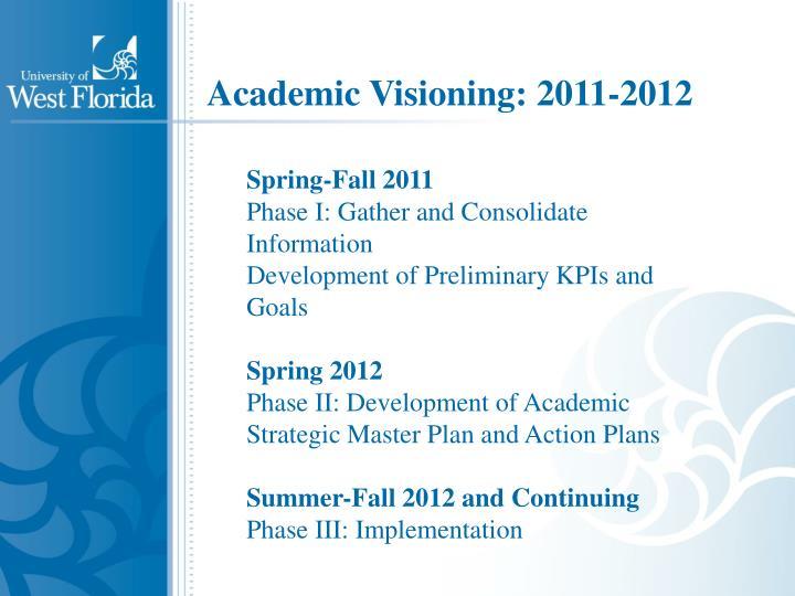 Academic Visioning: 2011-2012