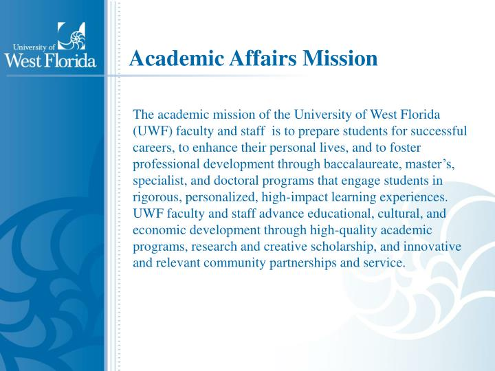 Academic Affairs Mission