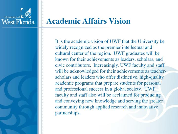 Academic Affairs Vision