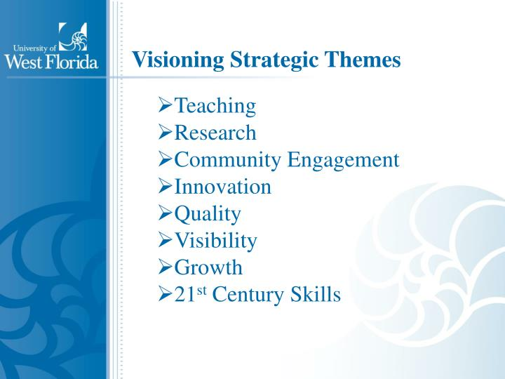 Visioning Strategic Themes