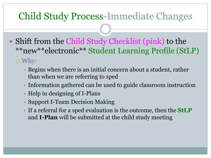 Child Study Process