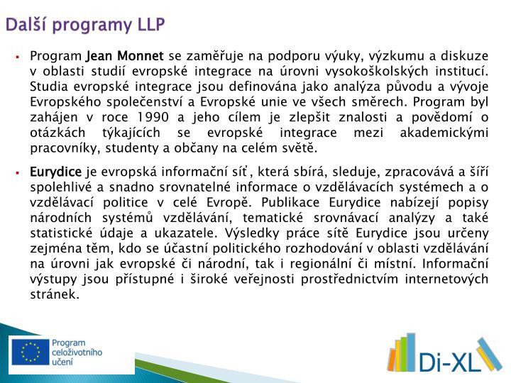 Další programy LLP
