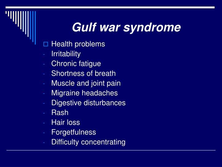 Gulf war syndrome
