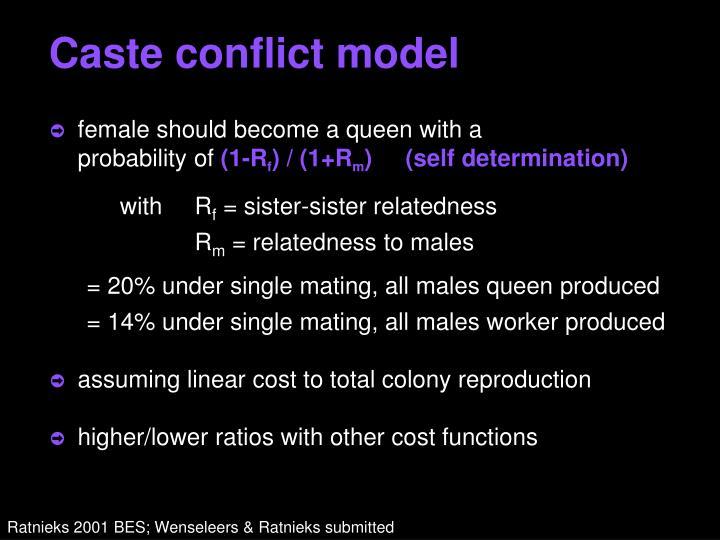 Caste conflict model