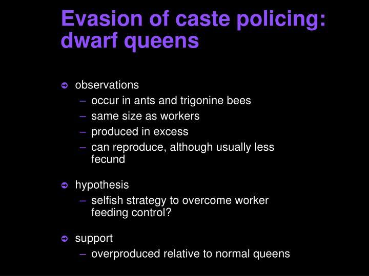 Evasion of caste policing: