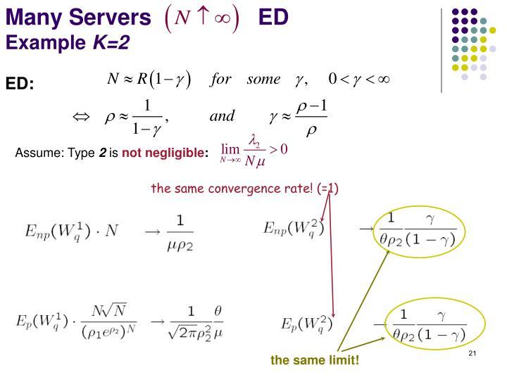 Many Servers                 ED