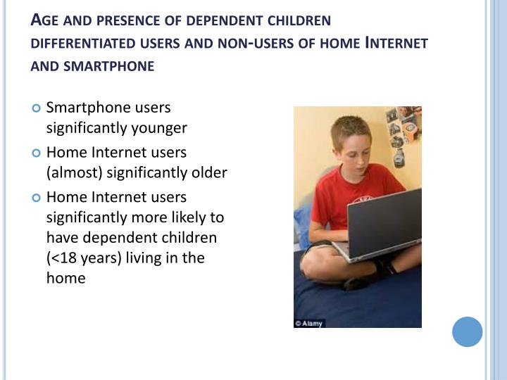 Age and presence of dependent children