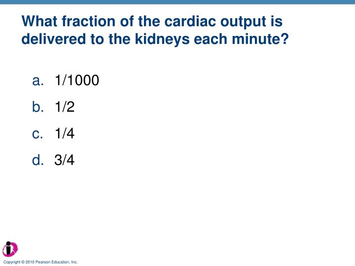 What fraction of the cardiac output is delivered to the kidneys each minute?