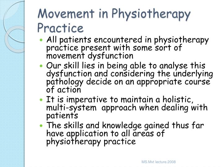 Movement in Physiotherapy Practice