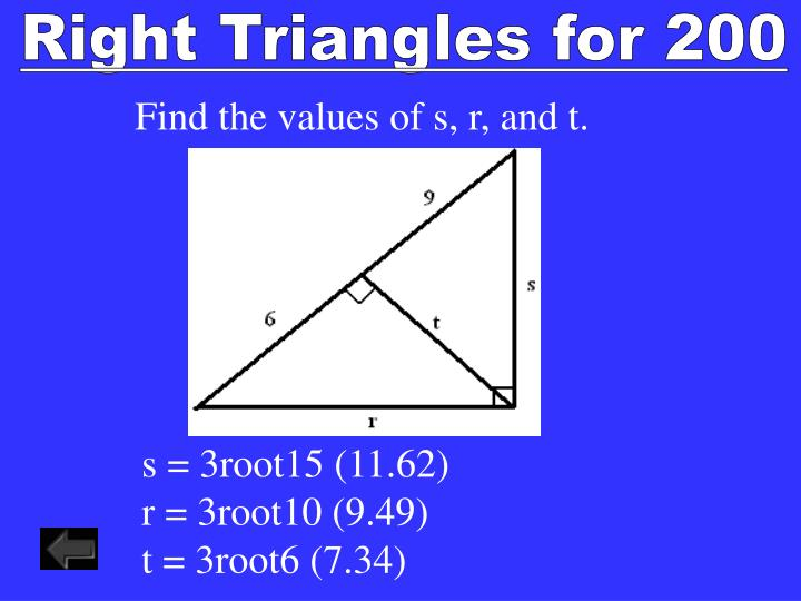 Right Triangles for 200