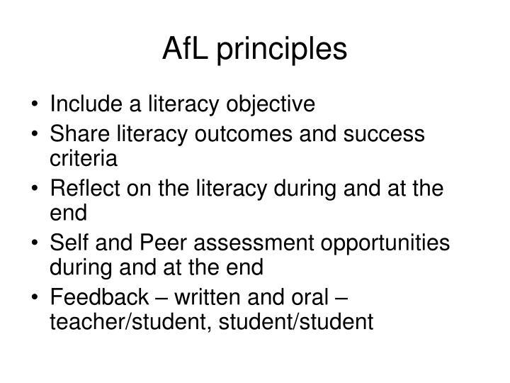 AfL principles