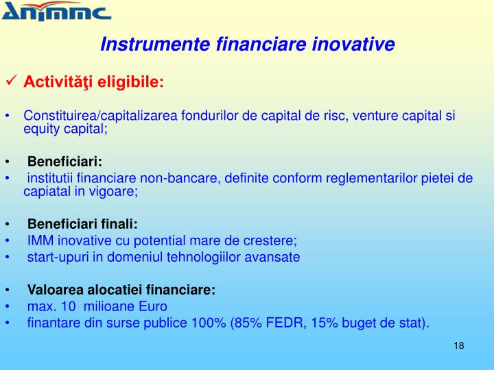 Instrumente financiare inovative