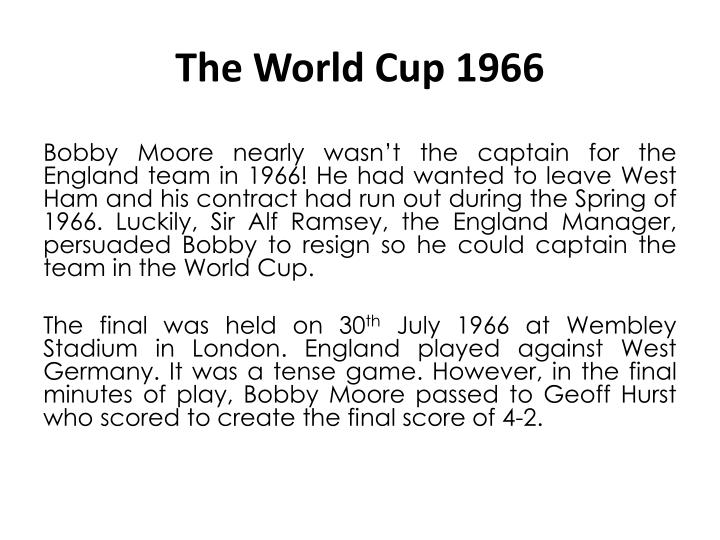 The World Cup 1966