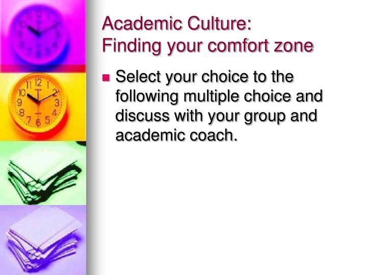 Academic Culture: