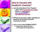 how to connect with academic coaches