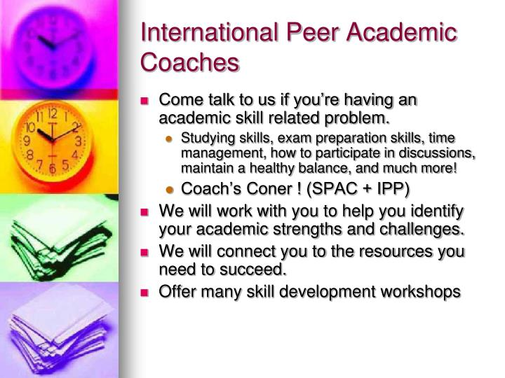 International Peer Academic Coaches