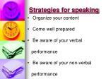 strategies for speaking
