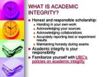 what is academic integrity