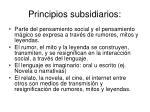 principios subsidiarios