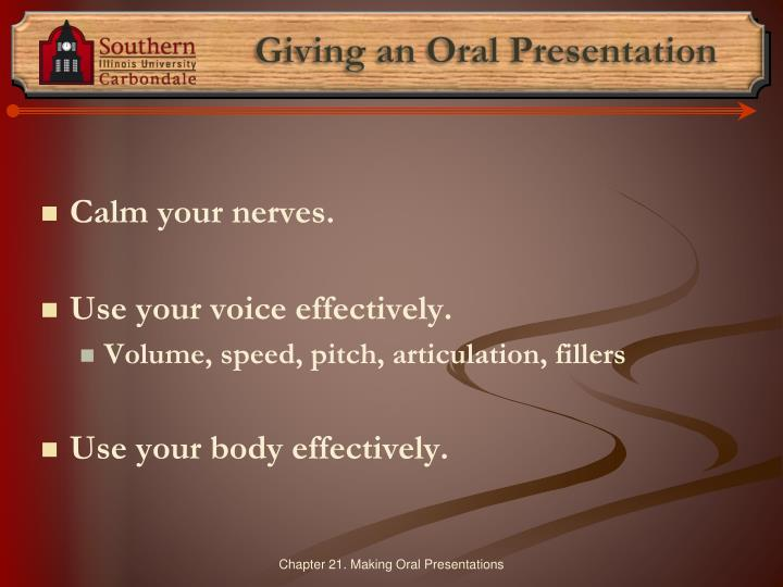 Giving an Oral Presentation