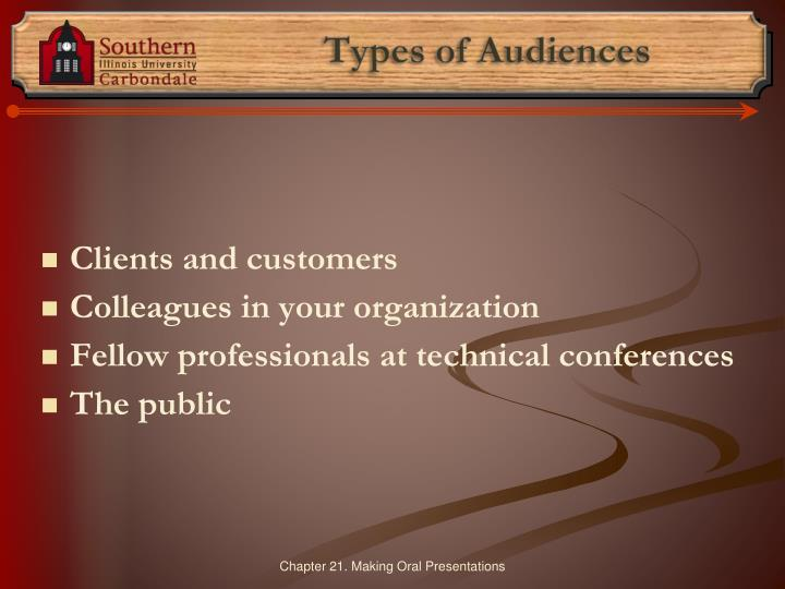 Types of Audiences