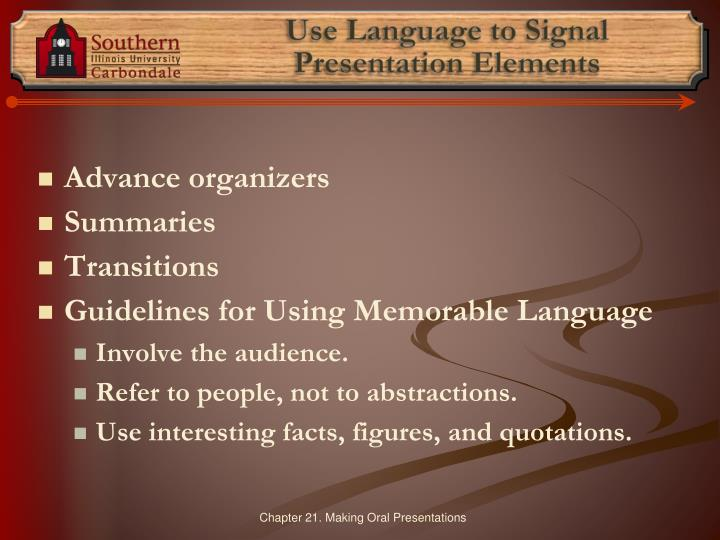 Use Language to Signal
