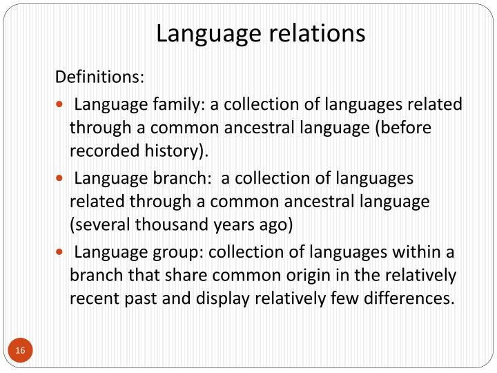 Language relations