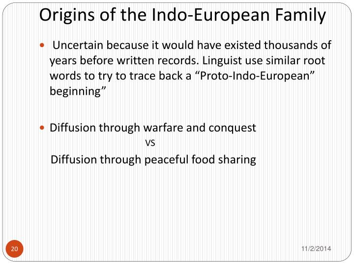 Origins of the Indo-European Family