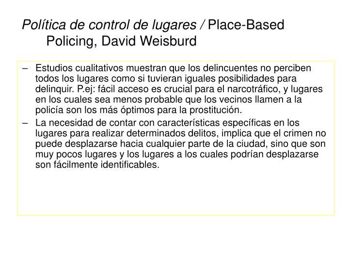 Política de control de lugares /