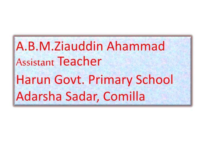 A.B.M.Ziauddin