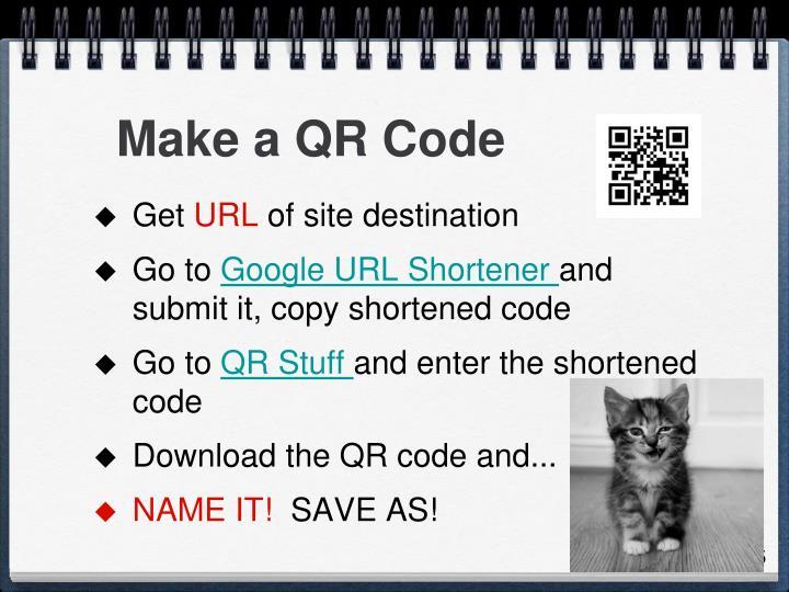 Make a QR Code