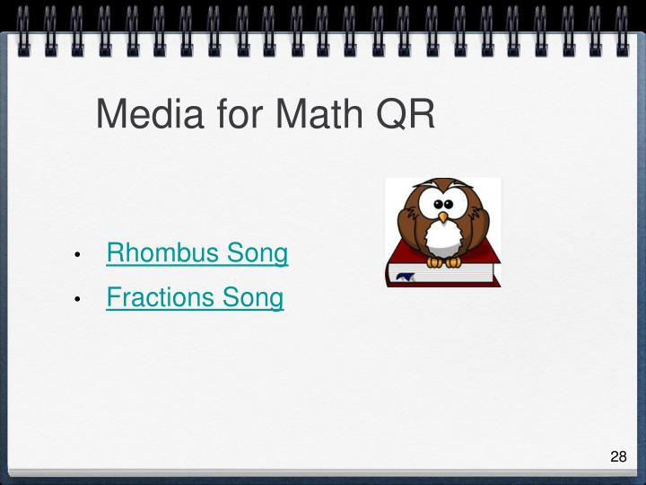 Media for Math QR