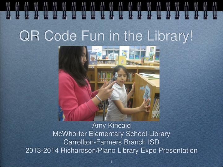 Qr code fun in the library