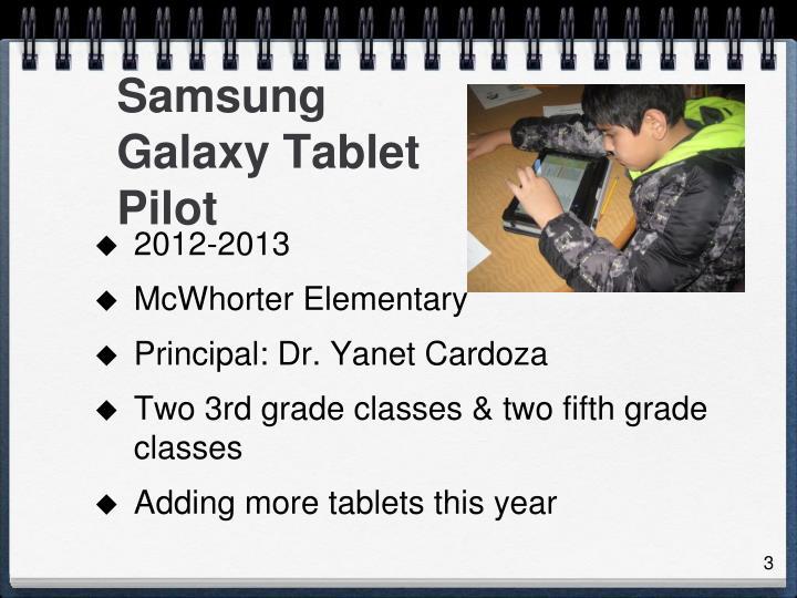 Samsung Galaxy Tablet Pilot
