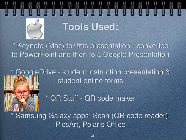 Tools Used: