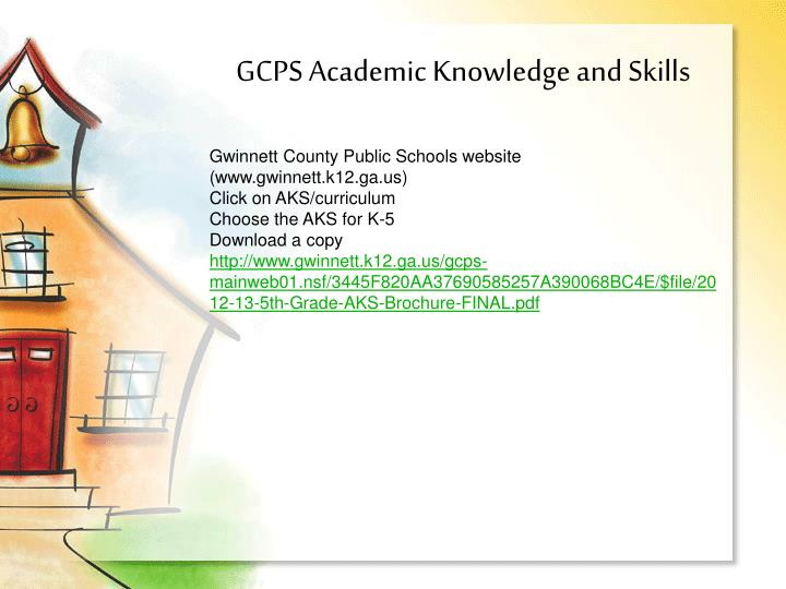 GCPS Academic Knowledge and Skills
