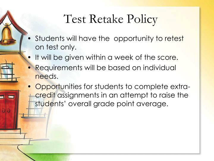 Test Retake Policy