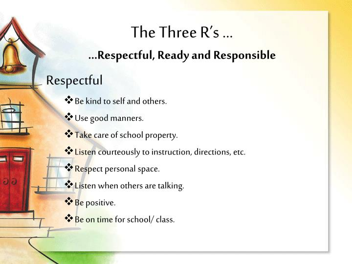 The Three R's ...