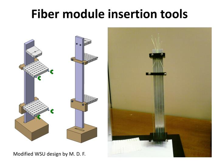 Fiber module insertion tools