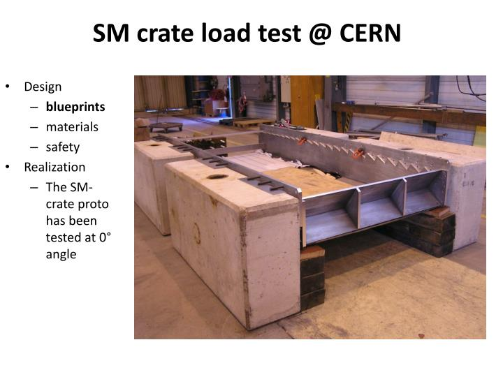 SM crate load test @ CERN