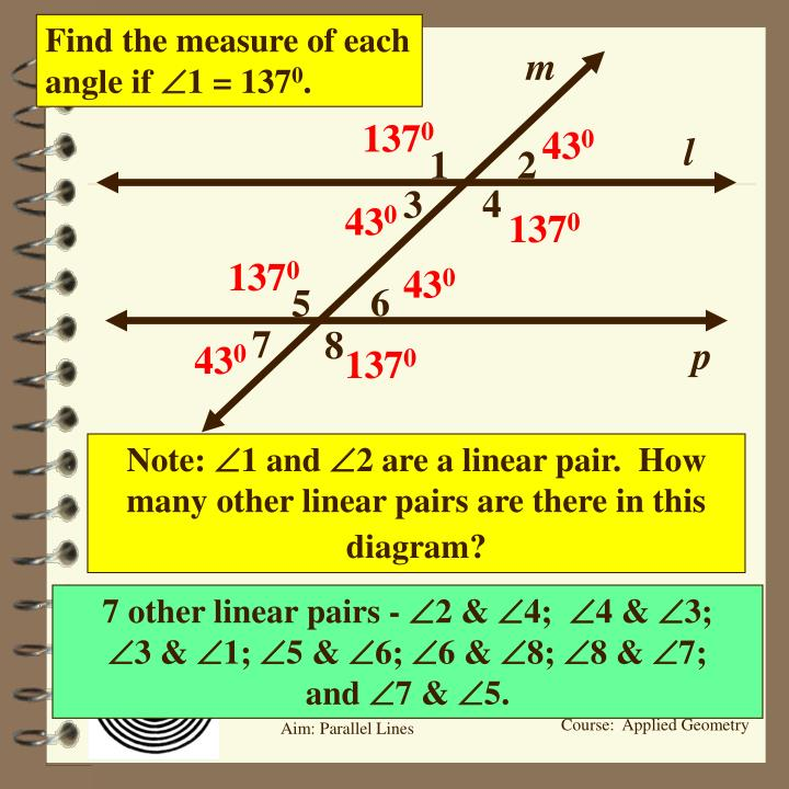 Find the measure of each angle if