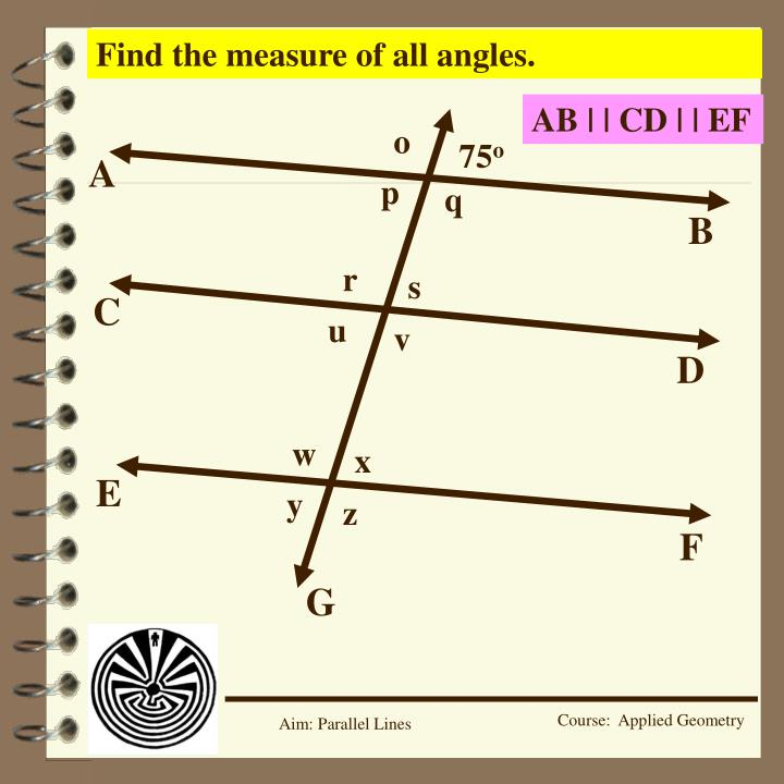 Find the measure of all angles.