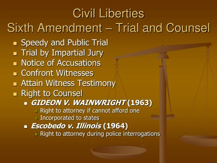 civil liberties civil rights 1 civil liberties ♦ constitution - the original constitution mentions specific rights considered to be fundamental freedoms by the founding.