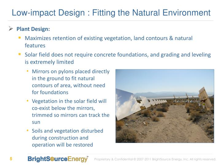 Low-impact Design : Fitting the Natural Environment