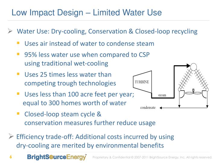 Low Impact Design – Limited Water Use